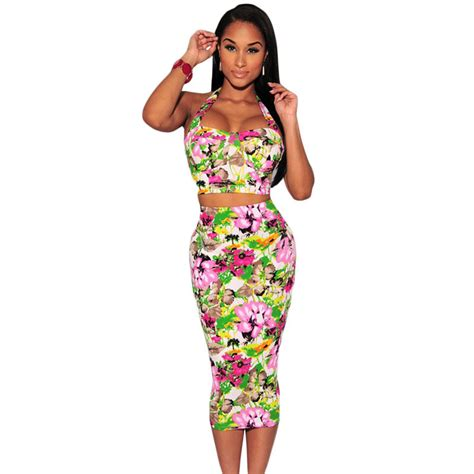 2 piece skirt set women wholesale new summer elegant club skirts 2 piece set women