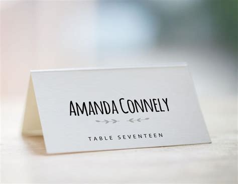 wedding name card template printable place card template wedding place card template