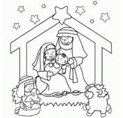 Nativity Coloring Page  Free Christmas Recipes Pages For