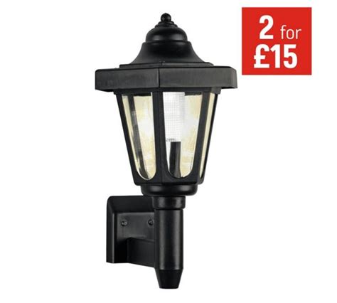 Buy Home Black Solar Outdoor Wall Light At Argos Co Uk Argos Solar Lights