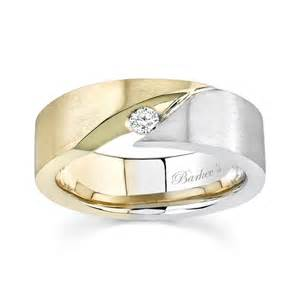 Barkev's Two Tone Mens Wedding Band   6842G