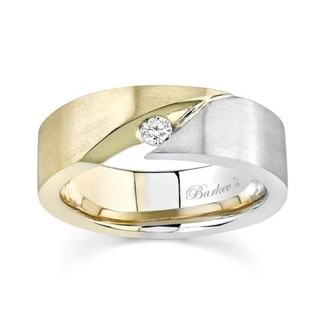 barkev s s two tone wedding band 6842g