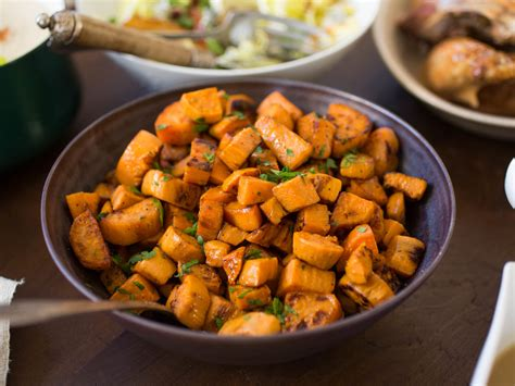8 not too sweet sweet potato recipes for thanksgiving serious eats