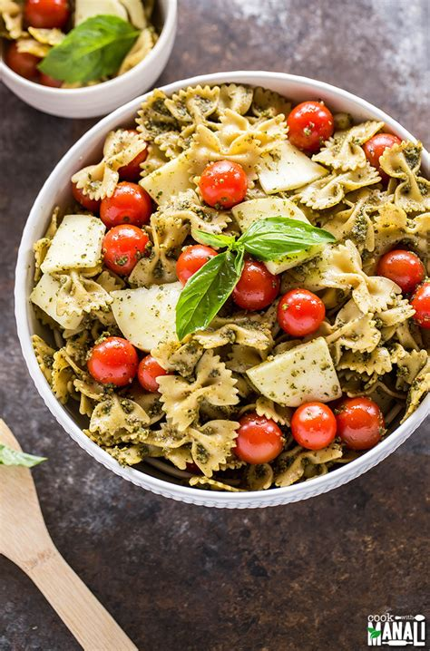 pesto pasta salad recipe basil pesto pasta salad with mozzarella