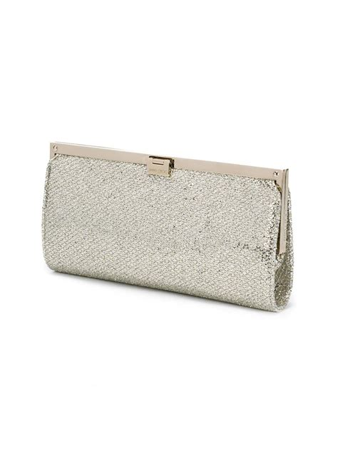 Jimmy Choo Metallic Clutch by Jimmy Choo Camille Clutch In Silver Metallic Lyst