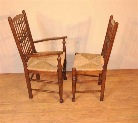 set 8 oak spindleback kitchen dining chairs spindle back