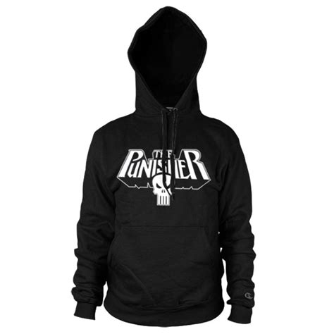 Jaket Hoodie Marvel Logo Sweater official marvel comics the punisher skull logo black