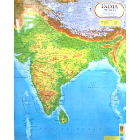Indian Home Decor Online Shopping by Buy India Physical Map 100x140 Cm Buy India Physical