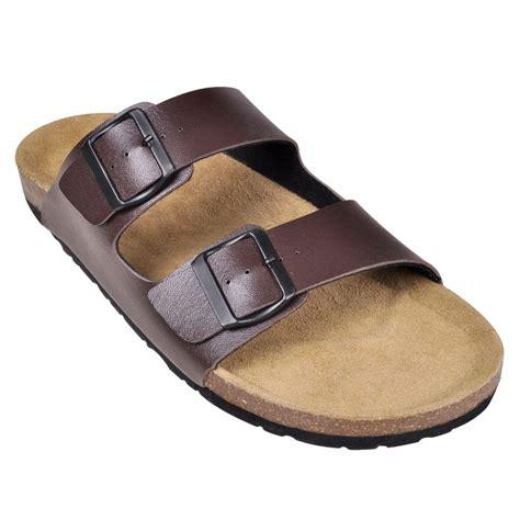 2 buckle sandals vidaxl co uk brown unisex bio cork sandal with 2 buckle