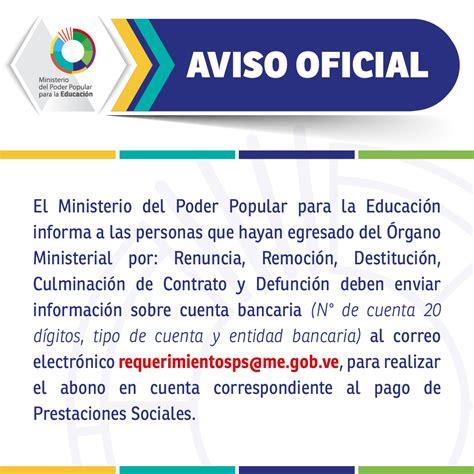 contrato colectivo del ministerio del poder popular para la educacion 2016 el ministerio del poder popular para la educaci 243 n informa