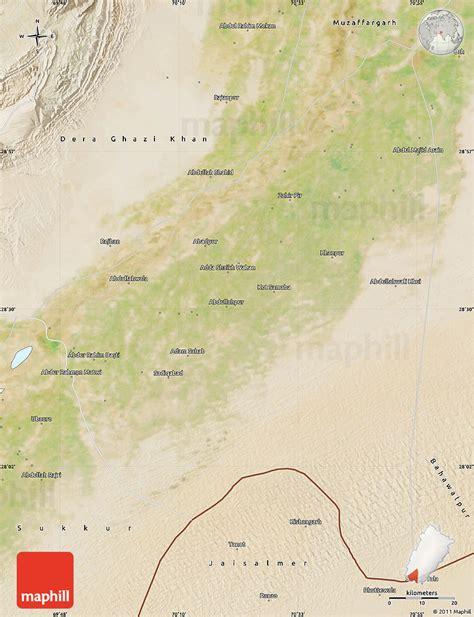 pakistan map satellite satellite map of rahim yar khan