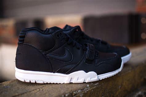 Nike Air 1 Mid All Black nike air trainer 1 mid black white sneaker bar detroit