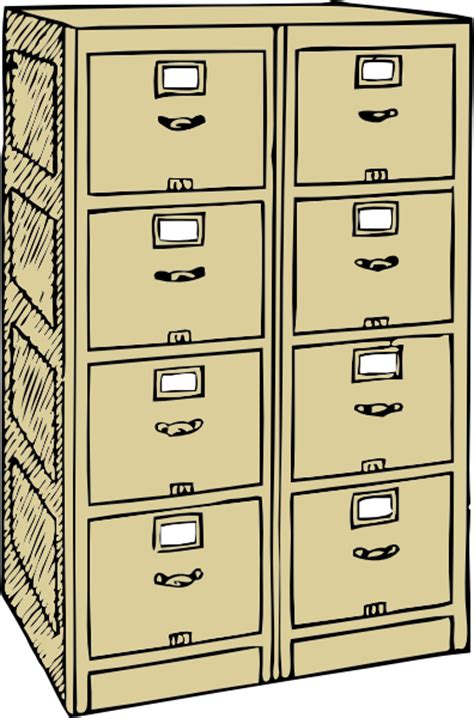 Cabinet Clipart by Drawer File Cabinet Clip At Clker Vector