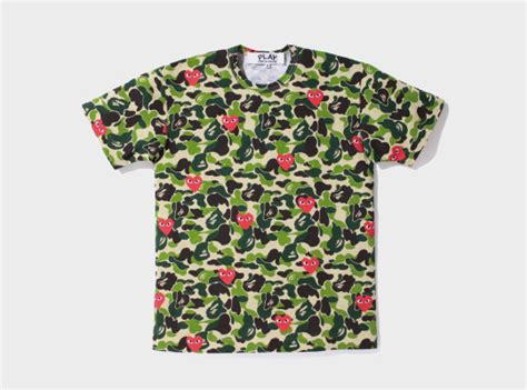 Bape X Play Green a bathing ape x play comme des garcons the collection highsnobiety