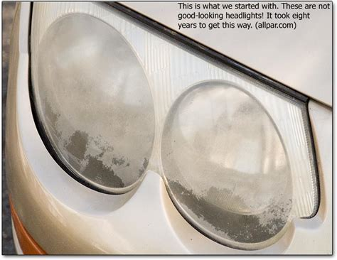 fixing cloudy fogged or pitted headlights