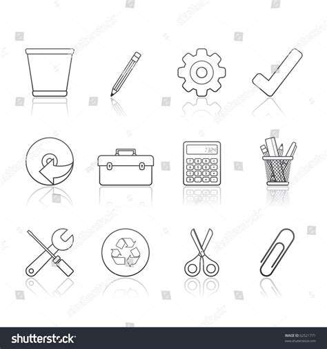 eps format office office icon set 14 195 162 194 194 strokes series vector eps 8