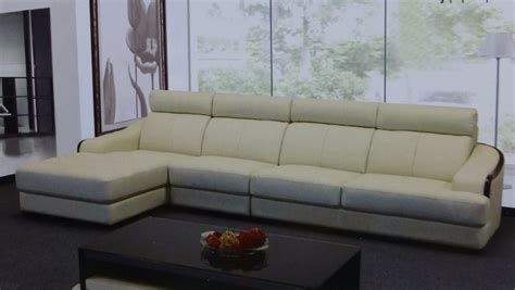 Ivory Leather Sofa Set Preludio Ivory Leather Modern Sectional Set