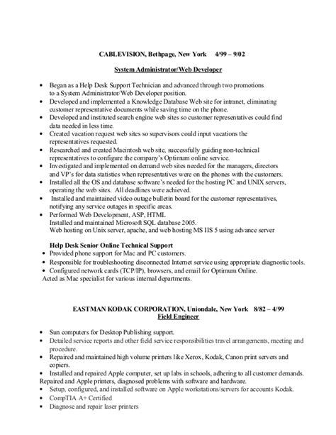System Support Cover Letter by System Support Resume Resume Ideas