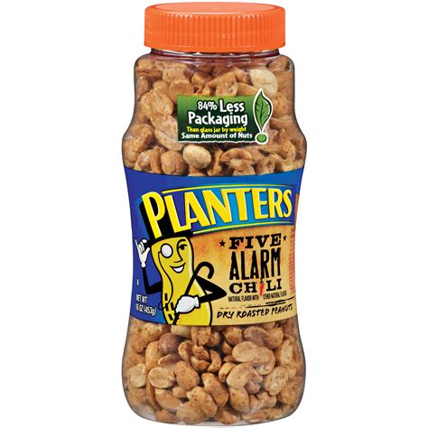 planters heat peanuts planters roasted five alarm chili peanuts 16 oz jar