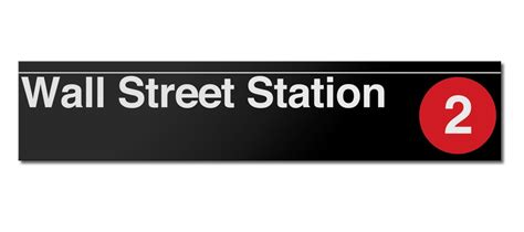 gifts for wall street guys wall street metal subway sign gifts accessories