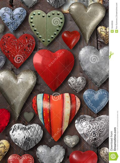 heart shaped metal  stock photo image  abstract