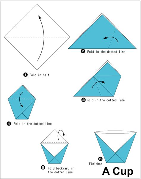 Steps To Make A Paper Easily - origami cup origami origami cups and wax