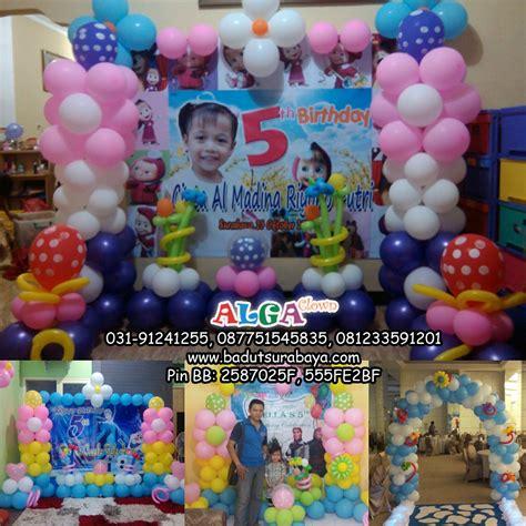 Balon Pesta Ulang Tahun Anak Model Binatang 10 Pcs dekor balon ultah 650 rb badut surabaya alga clown