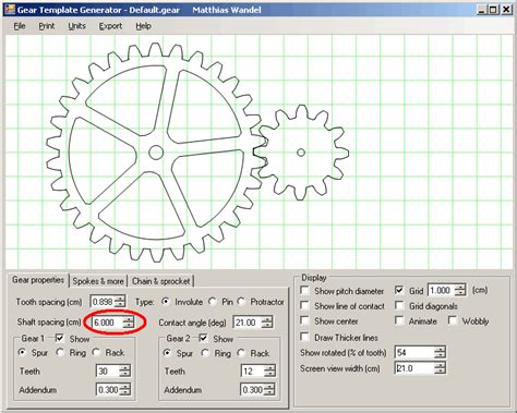 gear template generator program servicofficial