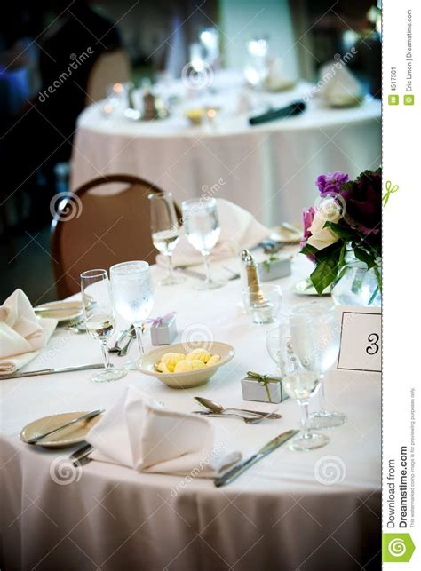 fine dining table setting table set for fine dining stock image image 4517501