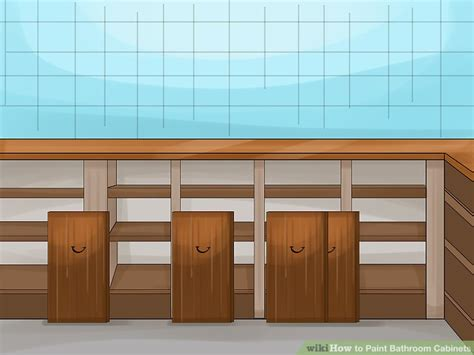steps to painting a bathroom how to paint bathroom cabinets 14 steps with pictures