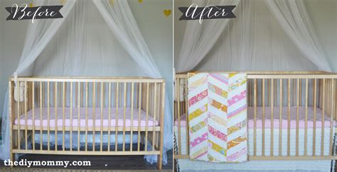 Sew An Easy Ruffled Crib Dust Ruffle The Diy Mommy Bed Skirts For Baby Cribs