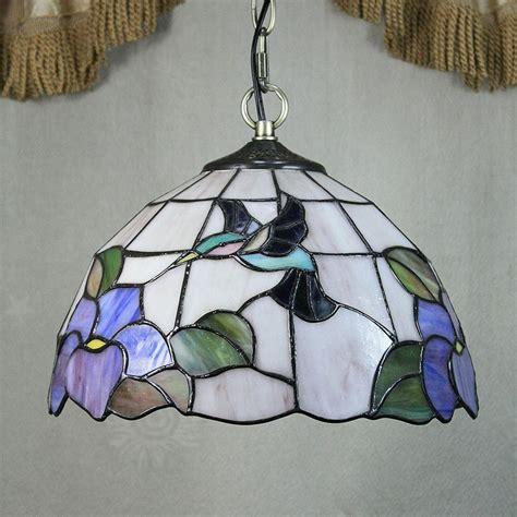 tiffany style hummingbird l decorative hummingbird tiffany glass pendant ceiling light