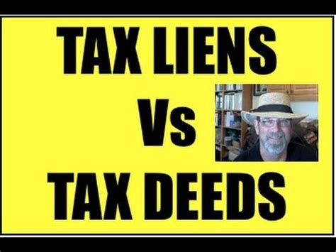 difference  tax lien  tax deed investing real