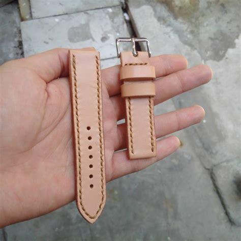 Tali Jam Tangan Press Jahit tali jam tangan kulit handmade leather jam tangan rakhcan