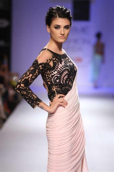 fashion amazing transparent long sleeve blouse designs