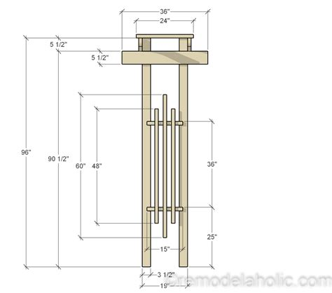 Wedding Arbor Dimensions by Remodelaholic 2x4 And More How To Build A Garden Arbor