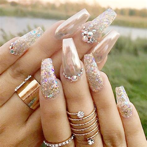 chrome nails design  newest manicure trend nails