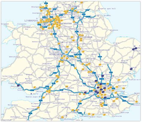 map uk motorway services map uk motorways travel maps and major tourist