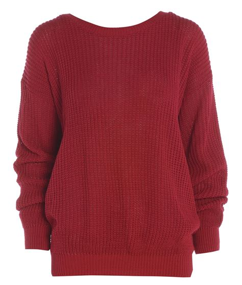 new womens oversized chunky sweater baggy knitted jumper top