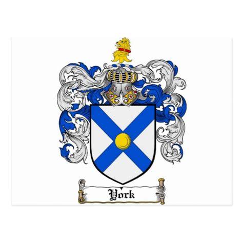 crest home design new york york coat of arms york family crest postcard zazzle