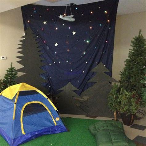 christmas vbs themes dark blue sheet christmas lights tent sleeping bag and
