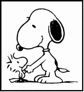 coloring page of shaking hands snoopy shaking hands coloring picture for kids snoopy