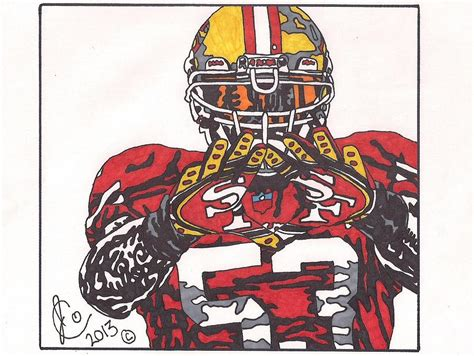 49ers Sketches by Navorro Bowman Drawing By Jeremiah Colley