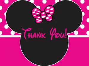 minnie mouse birthday thank you card by purplesundesign on etsy