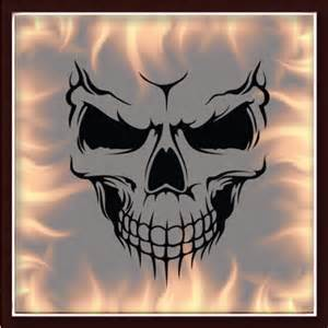 skull 325 airbrush stencil template motorcycle chopper