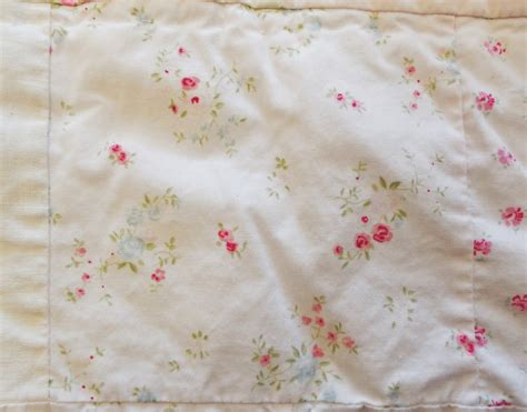 vtg simply shabby chic white pink rose patchwork