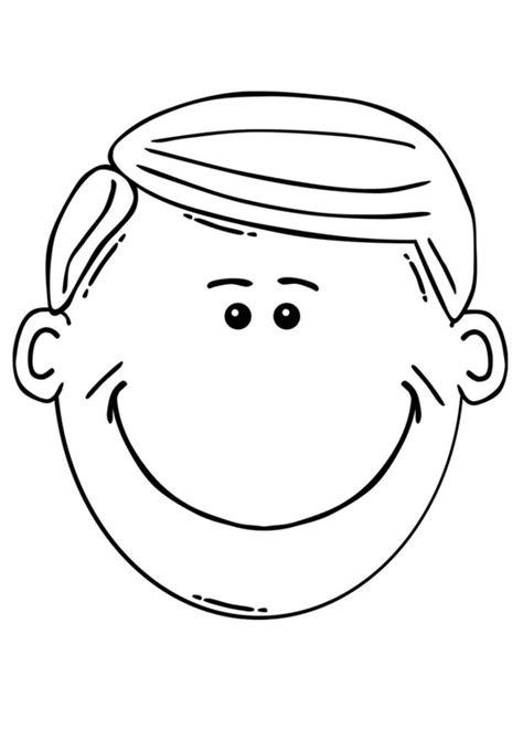 dibujos para nios de hombres para colorear pintar disegno da colorare faccia di un uomo cat 17101