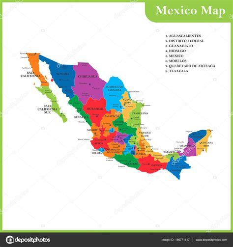 cosulta fotomulta estado de mexico o mapa detalhado do m 233 xico com regi 245 es ou estados e