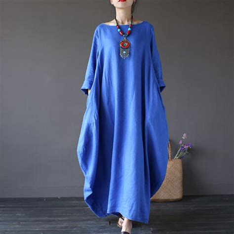 Lavina Jumbo Maxi Maxi Jumbo Maxi Big Size Maxi Murah dresses 2016 autumn vintage maxi dress large size sleeve print linen