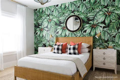 cool bedroom wallpaper thelamda com summer home tour a tropical retreat